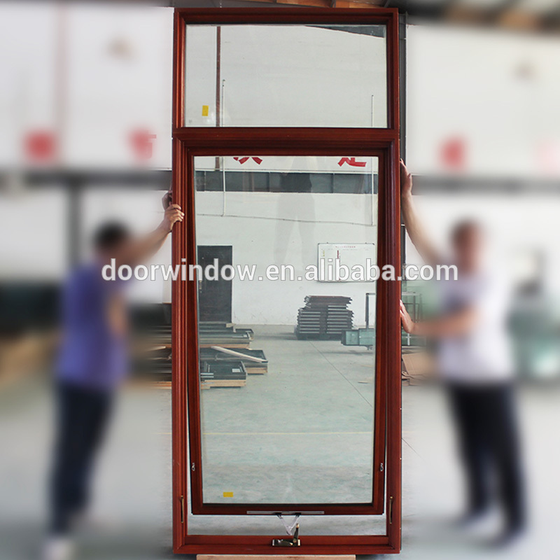 Casement window crank carved wooden frame awning