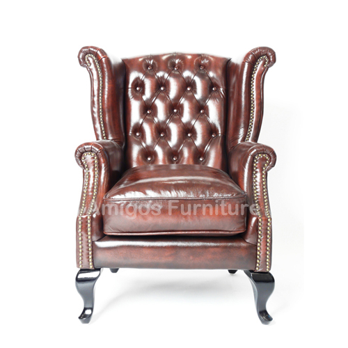 Chelsea Leather Sofa Queen Anne Chair