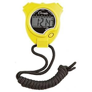 Champion Sports Running Walking Stop Watch-Stopwatch-Alarm - Yellow