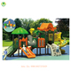 Hot sales good design and best material LLDPE plastic play house with slide swing and outdoor playground equipment (QX-020A)
