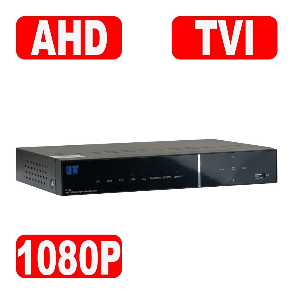GW Security 8 Channels HD-TVI / AHD / 960H 1080P Tribrid DVR CCTV with Mobile Motion Detection 8CH H.264 Digital Video Recorder Camera System For Analog , AHD , TVI Security Camera (2TB HDD)