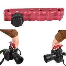 Red Hand-held Multifunctional Portable Metal DC/DV Camera Bracket Holder for Canon Nikon Sony, Fuji X-PRO1/X-E2/X-E1, X-M1/X-A1
