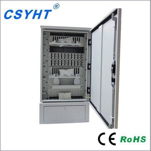 outdoor Stainless Steel 576 cores fiber optic cross connector distribution network cabinet with factory price