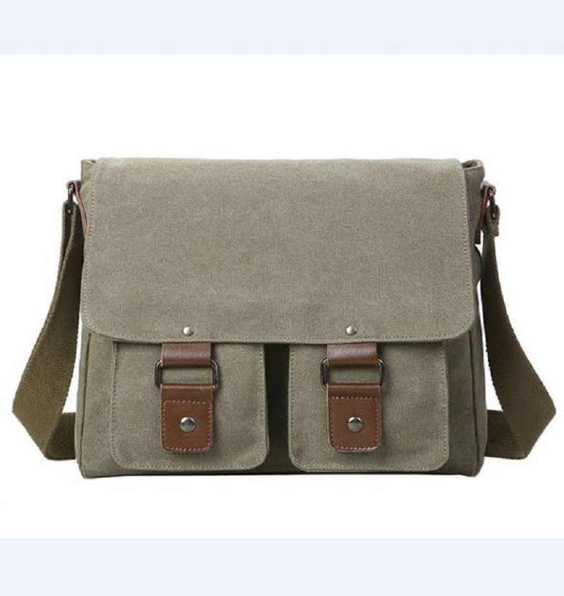 Get Quotations Retro Solid Man Canvas Bag Double Pockets Crossbody Messenger Shoulder Bags Students Boys