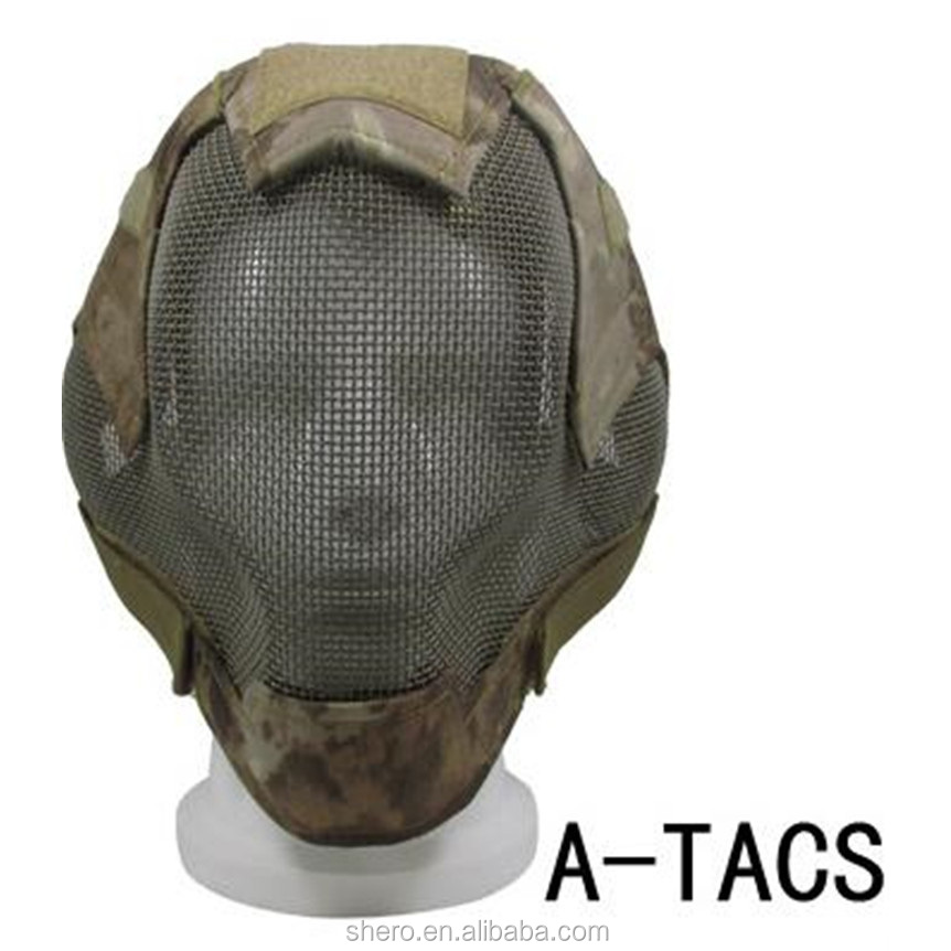 Back To Search Resultshome Atac Fg V6 Steel Net Mesh Fencing Mask Full Face Protective Tactical Mask Cover Face Ears Airsoft Military Cosplay