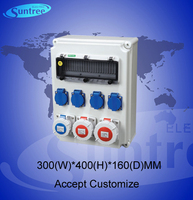 industrial power supply socket box ,300(w)*400(h)*160(d)mm,for indusrial purpose