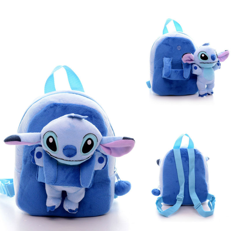 b7ce3efd4771 Get Quotations · Cute Children Stitch bags small plush bags cartoon brand kids  backpack Children s school bags for little