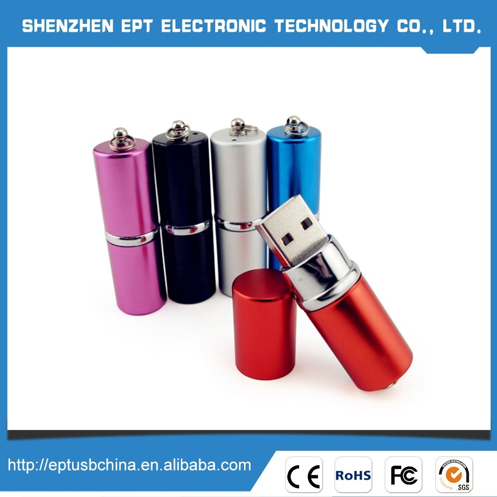Best Price CE FCC ROHS Lipstick usb flash drive with lcd display screen