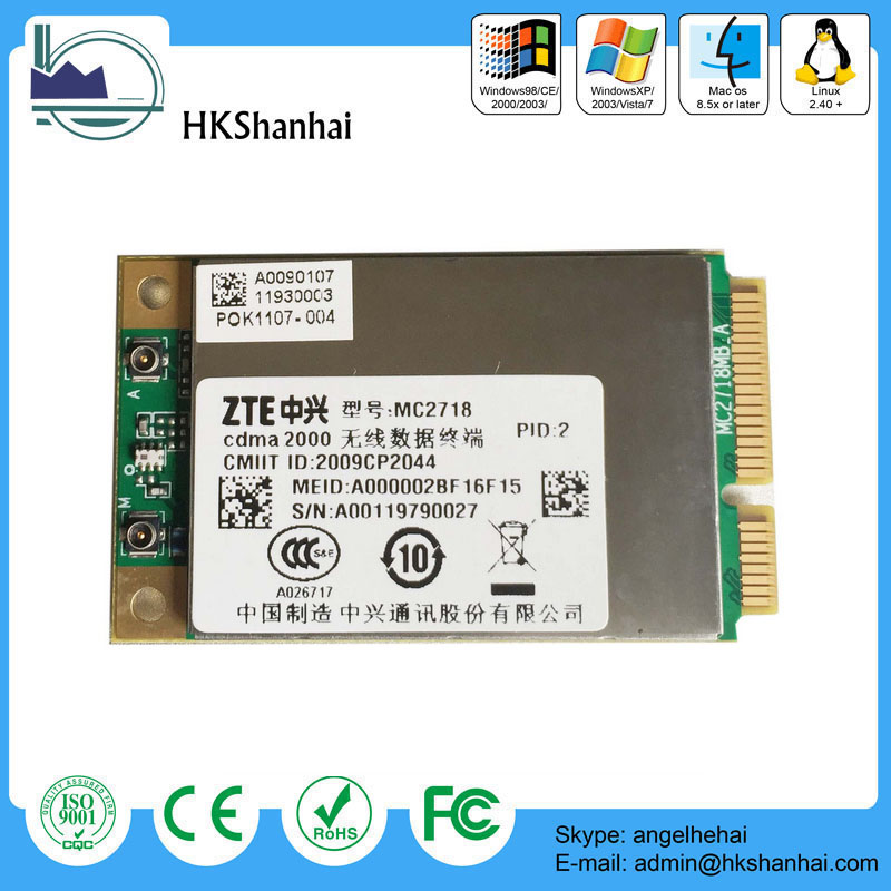 New and original dual band 3.1mbps 3G EVDO zte module mc2716/mc2718