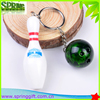 bowling gift key ring paint color bowling ball keychain,bowling equipment key chain