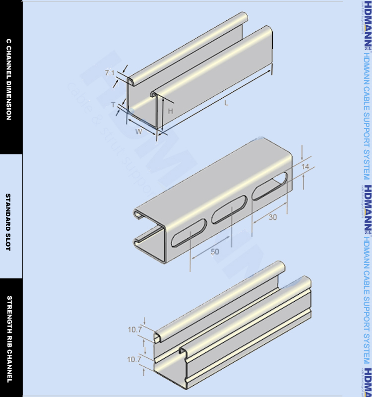 Perforated Steel Strut Channel C Shape & U Shape (ul,Ce ...