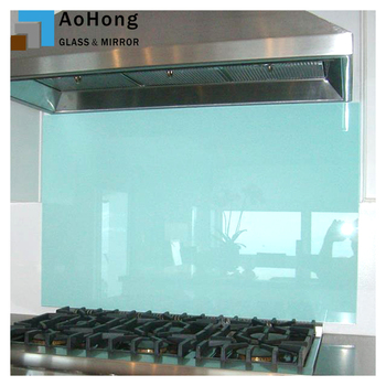 Clear Tempered Glass Backsplash