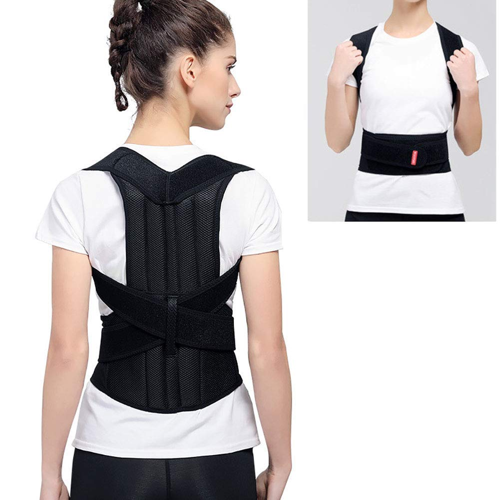 Humpback Correction Belt Adjustable Posture Trainer Back Strap Scoliosis Humpback Correction Belt Physical Therapy Spinal Support Back Braces,S