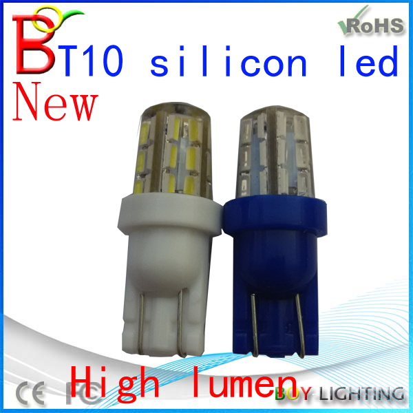 Hot Selling led width lamp t10, universal used car bulb led lighting, 3014SMD t10