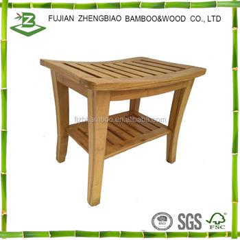 Bamboo Bathroom Bench Seat Shower