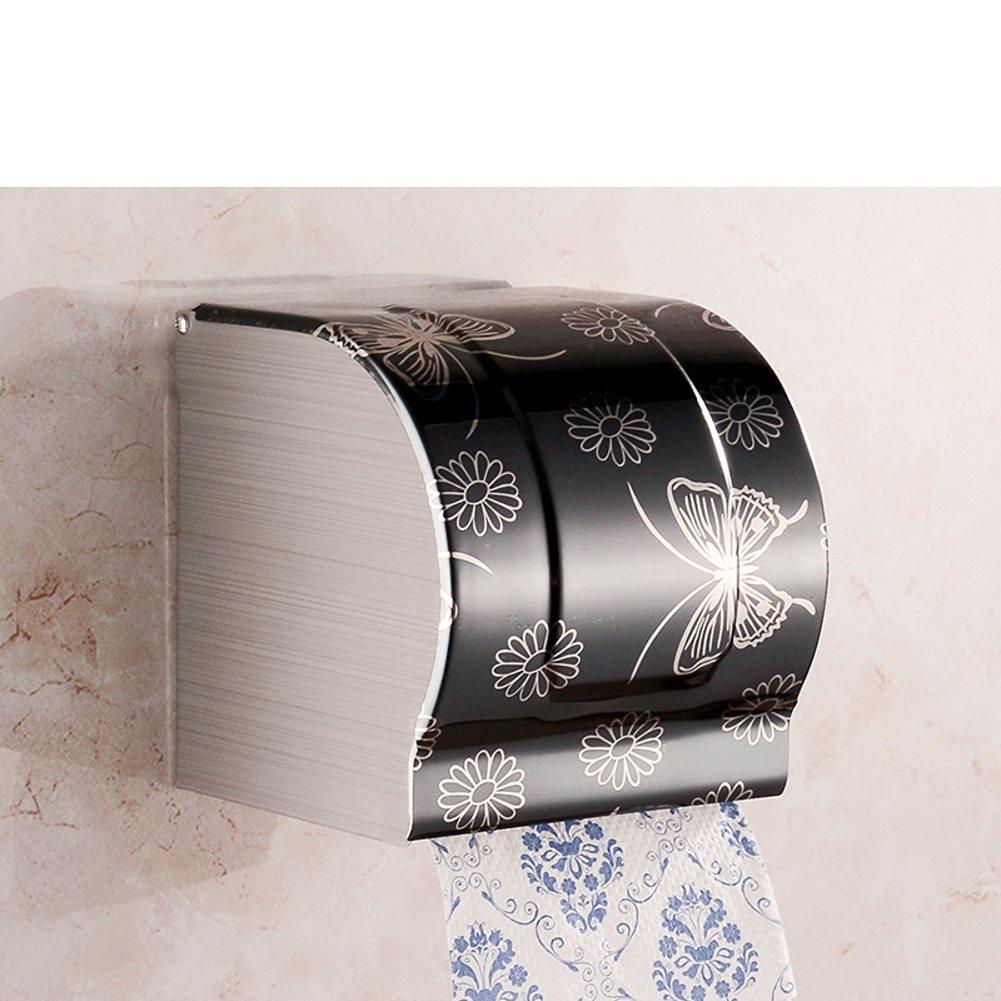 Stainless steel toilet tissue box/ toilet tissue paper holder/Box/Waterproof toilet paper box/ toilet roll holder-F