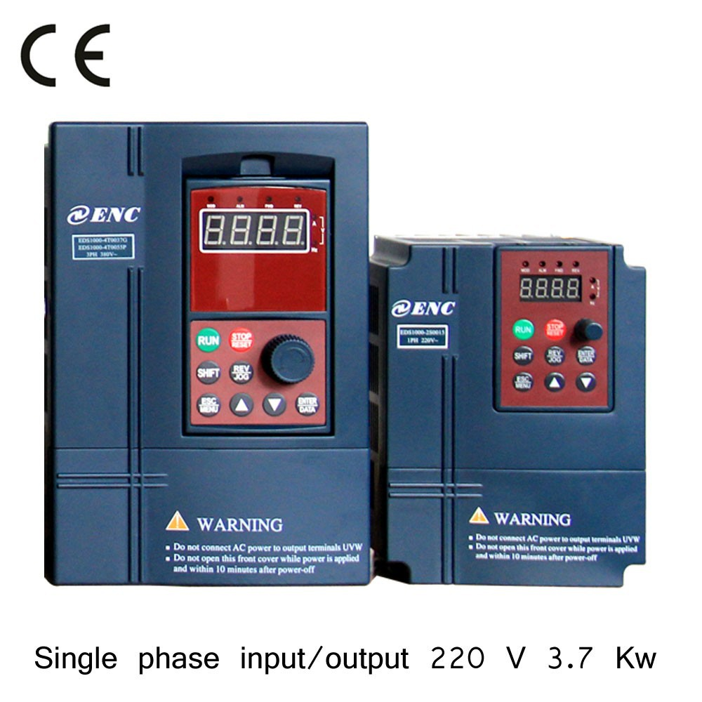 ENC single phase 220V sensorless vector control frequency inverter, AC motor drive, VFD with built-in brake unit