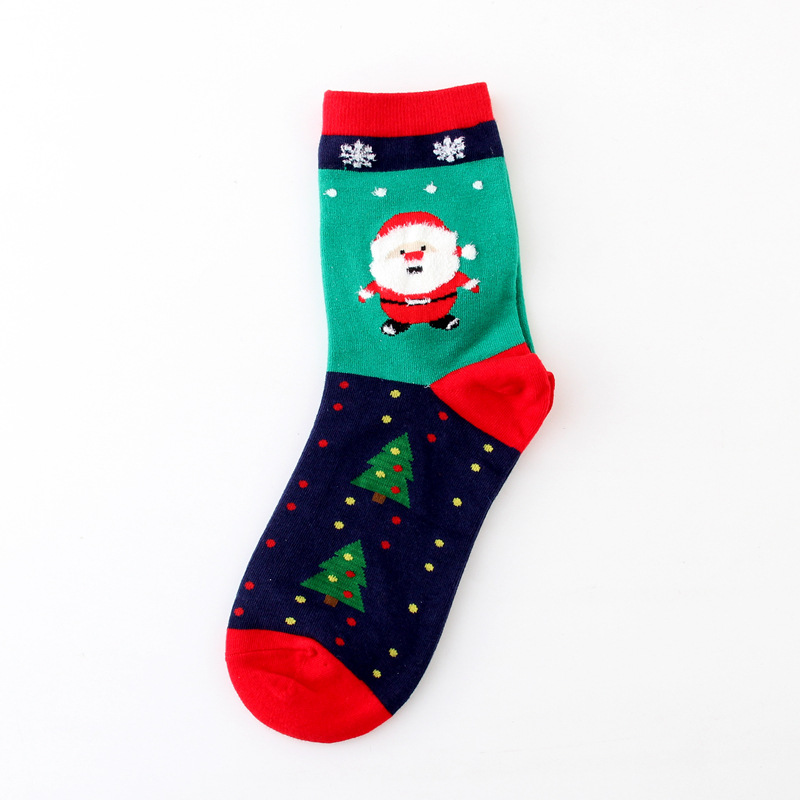 Custom Designs Multi Color Adult China Cotton Christmas Ankle Slipper Sock for Winter
