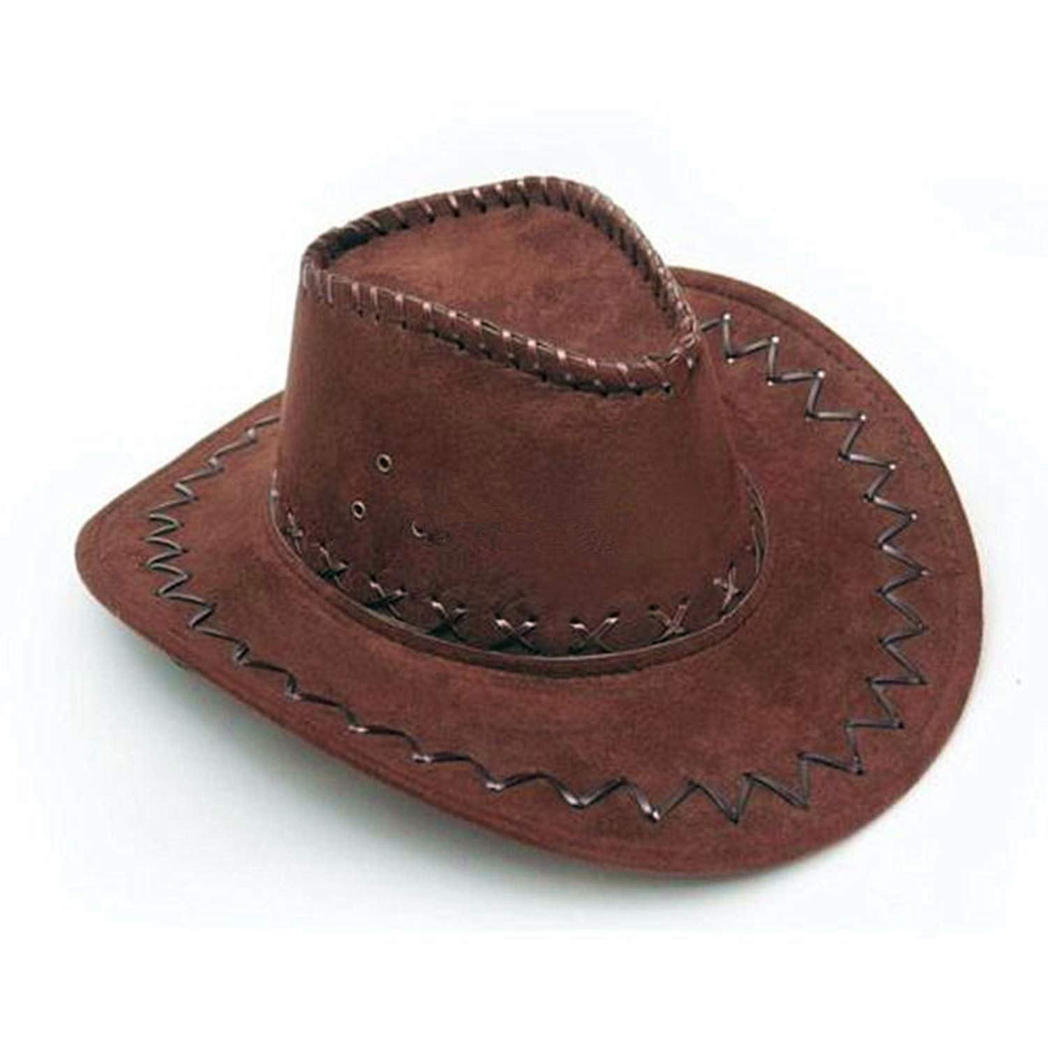 Get Quotations · Hufong Fashion Men Women Cowboy Cap Fancy Dress Unisex  Wide Brim Hats Black Coffee   6752fe4886a7