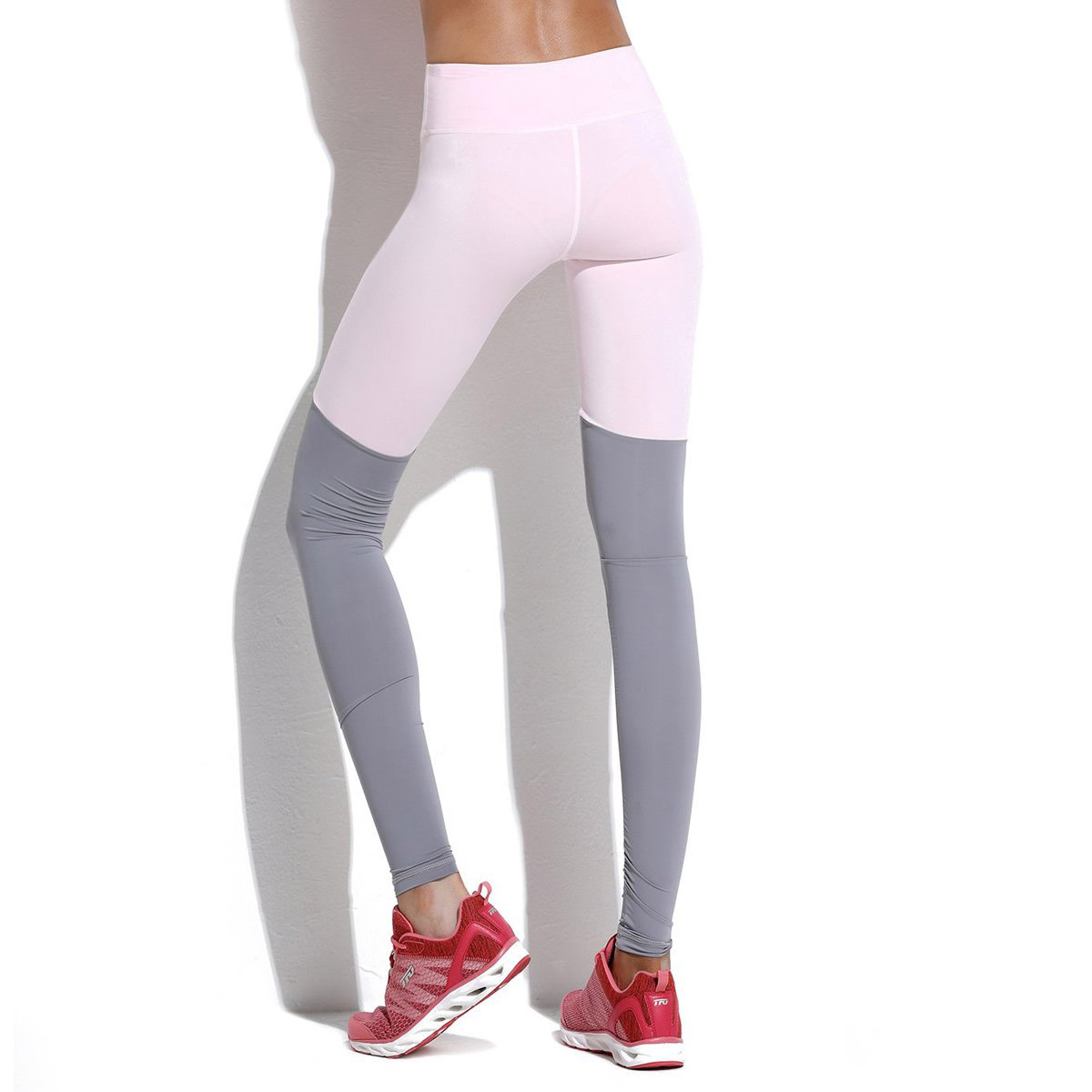 Moisture Absorption And Perspiration Female Model Fitness Exercise Tight Foot Pants