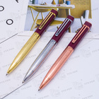 2018 Elegant gift Metal Twist Pen Wholesale Blue Square Ballpoint Pen