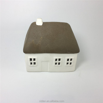 Ceramic village House with led light for Christmas decoration