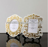 Baroque Paper Frames with Easel paper card holder wedding table decoration