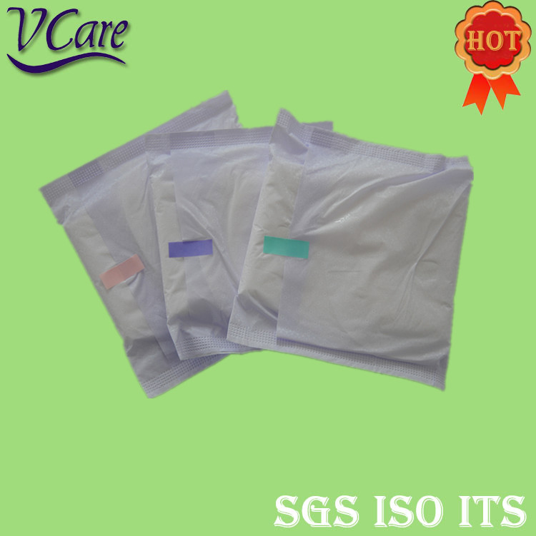 hight quality raw material extra care with negative ion sanitary napkin