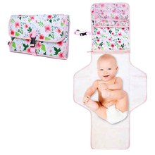 Foldable Travel Waterproof Portable Infant Changing Station Pad Diaper Baby Changing Mat  With Kit Pockets