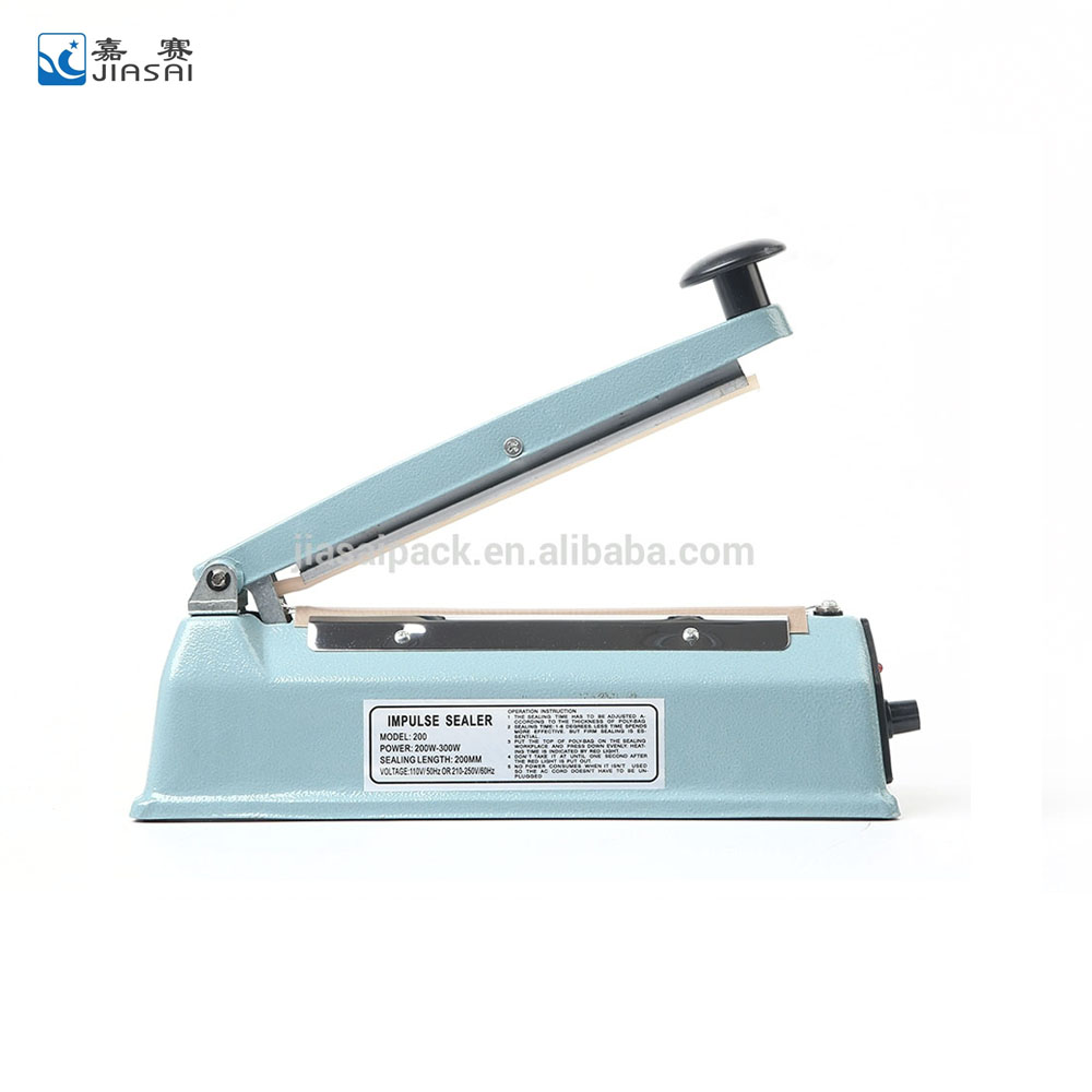 Factory supply iron printed steel packing tools plastic bag sealer <strong>date</strong> printing portable heat sealer SF200ID