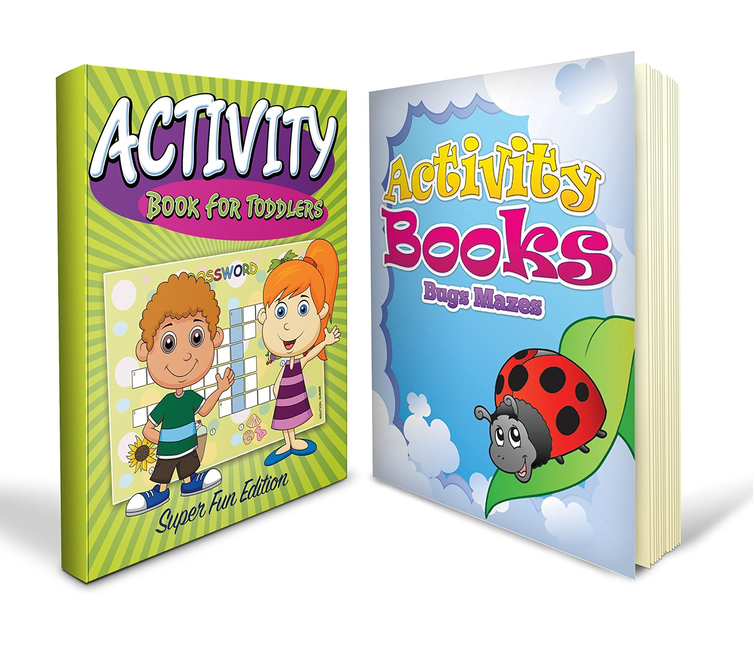 Activity Books Toddlers Bundle with Learning Pages for Boys and Girls