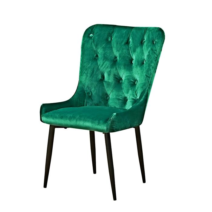 New Arrival Green Velvet Upholstery Modern Nordic