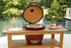 Luxurious Wooden Long Kamado BBQ Table