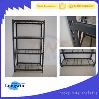 Heavy duty 4 tire mesh metal storage shelf