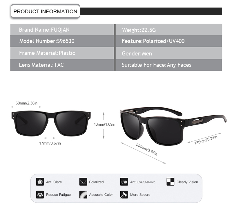 Fuqian what is polarized glasses factory price for men-7