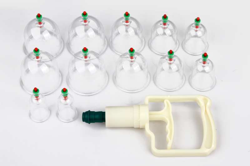 Chinese traditional disposable vacuum accupuncture cupping set for health care