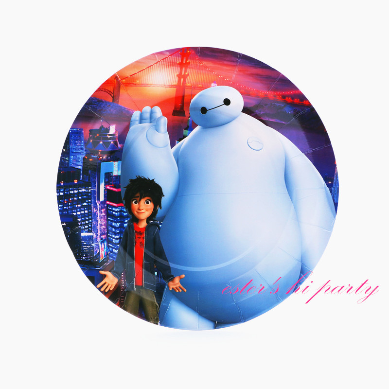 Get Quotations New Arrival Bay Max 9 Inch Paper Plates Big Hero 6 Birthday Party Supplies Baby Shower