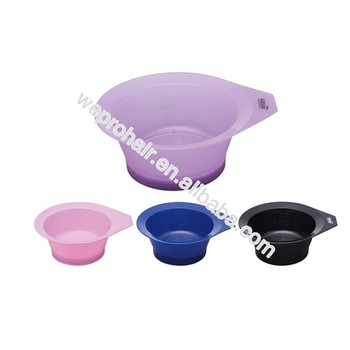 professional coloring tools plastic tint bowl hair dyeing bow for salon