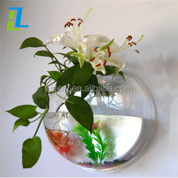 Popular Pmma Wall Mounted Acrylic Fish Bowlunique Betta Fish Bowls