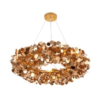 2019 modern irregular round chandelier celling lamp luxury modern flower pendant chandelier light