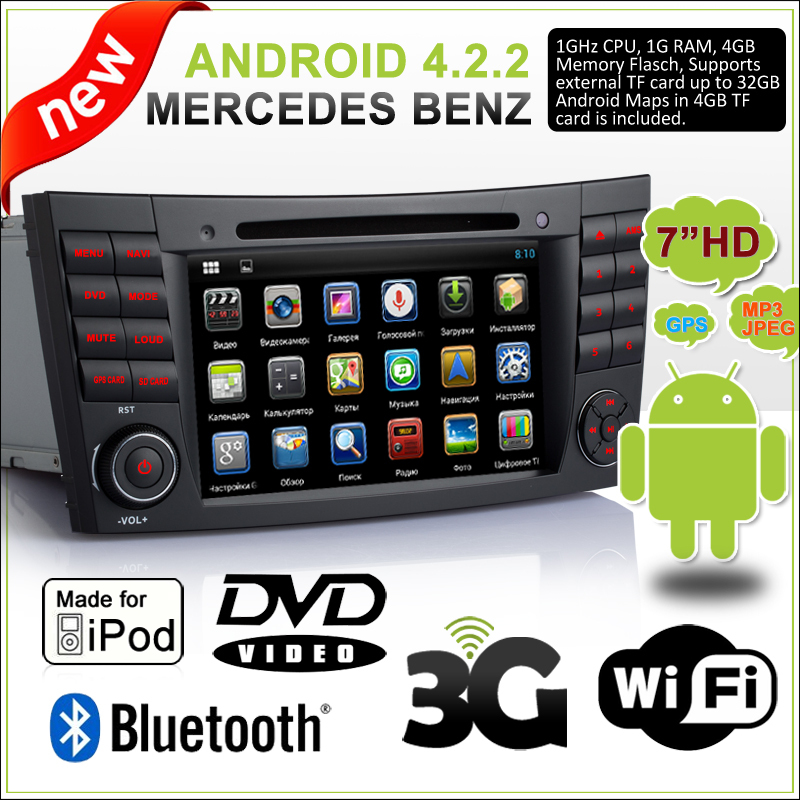 ifrego 7 android 4 2 car dvd for mercedes benz e class. Black Bedroom Furniture Sets. Home Design Ideas