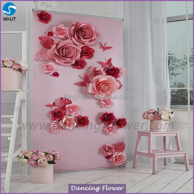 New hot selling paper flower red tulip artificial silk flower