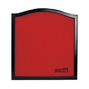 ONE80 DARTBOARD BACKBOARD SURROUND SOLID WOOD RED