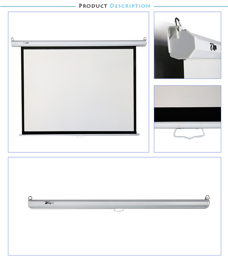 120 inch 16:9 low price best quality manual pull down projector screen