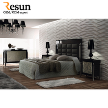 Resun italian cheap teak solid wooden bedroom set Manufacturer from China