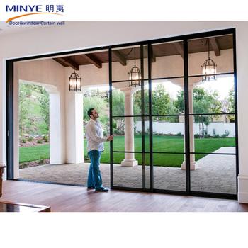Top Quality Balcony Sliding Glass Door Aluminum Profile Double Tempered  Glass Sliding Door