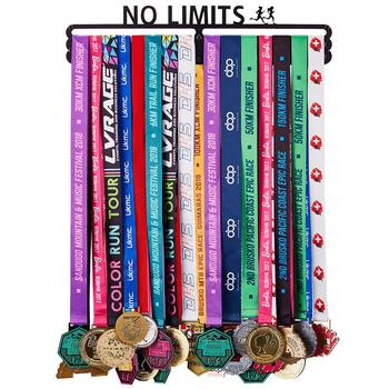 NO LIMITS Medal Holder Hanger Display Rack - Wall Mount Stainless Steel Sturdy Over 50 Medals Easy to Install