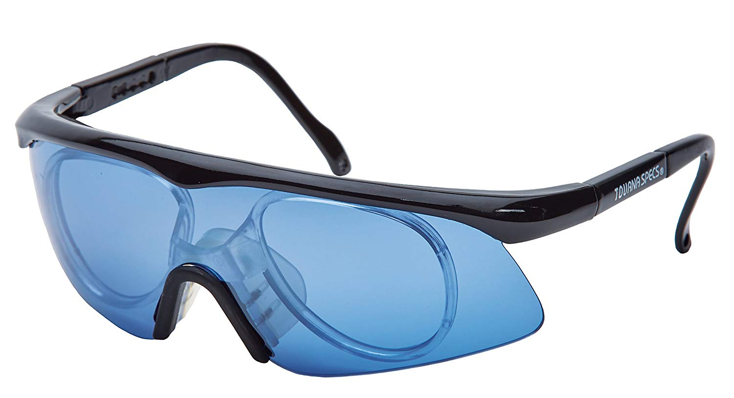 e0f67d63025 Get Quotations · Unique Sports Blue Tourna Specs Blue Protective Eyewear  with Prescription Adapter