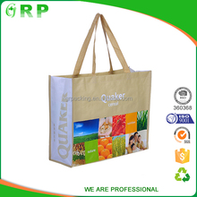 Top quality ecological full color printing wholesaler tote bag
