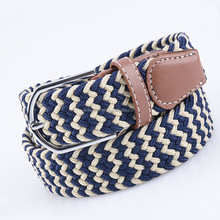 Fashion Braided Stretch colored Elastic Military Denim Braided Belt mens belts